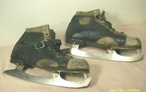 1910's~WINCHESTER~BARNEY & BERRY~ST. MORITZ~ANTIQUE FIGURE SKATING ICE SKATES~