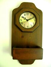 """VTG Wood Wall Clock w/ Storage Display Box Country Traditional Classic Style 22"""""""