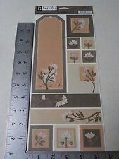 PEBBLES INC. P. SNIP ITS SAMPLER FLOWERS CARDSTOCK STICKERS SCRAPBOOKING A2493
