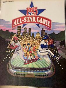 1985 Baseball All Star Game Program - Minnesota - Game Ticket - Media Info