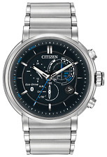 BRAND NEW CITIZEN BZ1000-54E ECO-DRIVE BLACK DIAL STAINLESS STEEL MEN'S WATCH