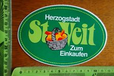 Alter Aufkleber Österreich HERZOGSTADT ST. VEIT Zum Einkaufen