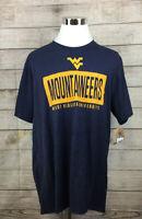 Mens Mountaineers West Virginia University NWT 2Xl Blue Knights Apparel N18