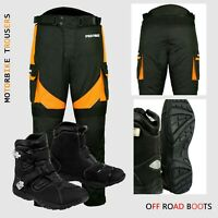 Motorbike Motorcycle Armoured Pant Trouser Waterproof Leather Shoes Racing Boots