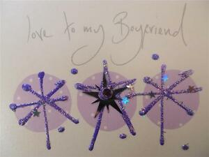 Handmade Boyfriend Blank Inside Pearlized Paper Glitter Paint Gem Confetti Stars