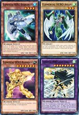 Elemental HERO Bubbleman SDHS-EN012 1st + Avian +Bladedge + Great Tornado