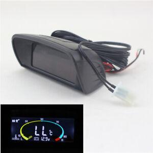 Digital Car Truck Dash Voltmeter Voltage Gauge + Water Temperature Gauge 12V 24V