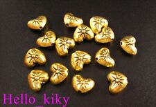 100pcs Antiqued gold plt spark heart spacer beads A98