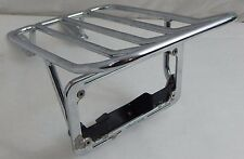 1999 Kawasaki Vulcan VN 1500 OEM Chrome License Plate Luggage Rack Bracket Part
