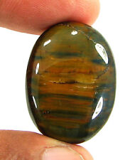 36.05 Ct Natural Tiger Tiger's Eye Loose Gemstone Cabochon Cab Stone - 23708