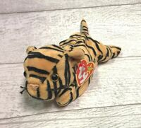 Stripes Tiger 4065 PVC 4th Generation 1995 Retired Ty Beanie Baby Mint