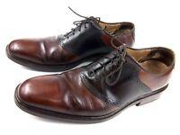 Cole Haan Men's Shoes Dark Brown 2-Tone Saddle Leather Oxfords C04587 Sz 11.5