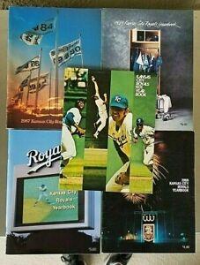 Lot of 5 Kansas City Royals Yearbooks 1971,87,88,89,91 Brett, Bo