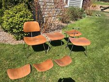 Herman Miller Eames Set 4 Plywood Dining Chairs Mid Century Modern Wood Chrome