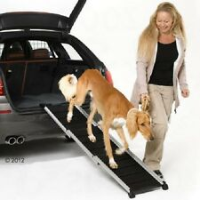 Rampa de perro coche ahorro de espacio telescópico de aluminio Perros hasta 85kg Cachorro Joven Viejo