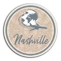 2 x 10cm Nashville America Vinyl Stickers - Travel Sticker Laptop Luggage #23060