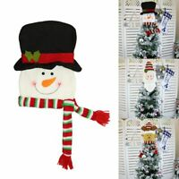 US Christmas Tree Ornament Topper Snowman Santa Claus Hat Xmas Accessory Decor