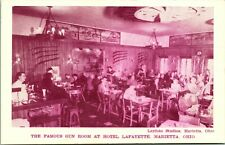 Vintage 1940-50s Postcard The Famous Gun Room at Hotel Lafayette Marietta, OH