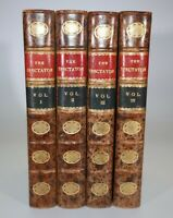 1906 The Spectator ADDISON and STEELE 8 Vos in 4 Riviere Edition Half Leather