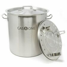 Gas One 100 Quart Stainless Stock Pot w/ Lid & Steamer rack Tamale Beer Brewing