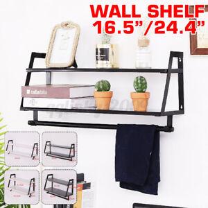 2 Tier Wall Shelves Shelf Floating Bookshelves Display Decor Home Wood DIY