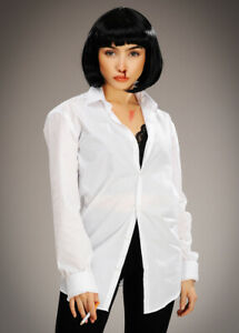 Womens Pulp Fiction Style Mia White Fancy Dress Costume Party Kit
