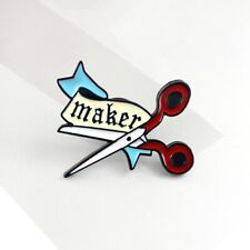 New 2019 Cute Planner Craft Maker Enamel Pin Badge Sewing Gift for Crafters