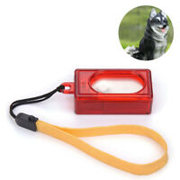 Dog Pet Click Clicker Training Obedience Agility Trainer Aid Wrist Strap Red LI