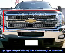 Chevy Silverado 2500HD/3500HD Stainless Steel X-Mesh 40 Grille Grill 2011-2014