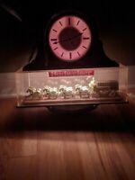 Vintage Budweiser Beer Clydesdale Lighted Clock Sign Working Horse Anheuser