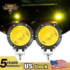 "AUXBEAM 4"" Amber LED Work Light Bar Spot Offroad Truck SUV ATV Driving Fog Lamp"