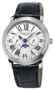 Frederique Constant Classics Business Timer Steel Mens Strap Watch FC-270M4P6