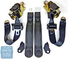 1983-92 GM F Body Bucket Seat 3 Point Single Retractor Seat Belt - Black