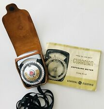 GE Guardian Pr-2 Exposure Light Meter in Leather Case with Manual Vintage 1956