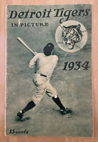 VINTAGE 1934 DETROIT TIGERS PICTURE BASEBALL YEARBOOK - WORLD SERIES GREENBERG