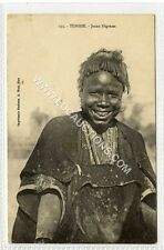 (Ga1200-450) Young Negress, TUNISIE, Tunisia c1910 VG