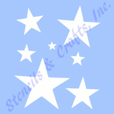 STAR STENCIL MANY STARS CELESTIAL STENCILS TEMPLATE TEMPLATES CRAFT NEW 6