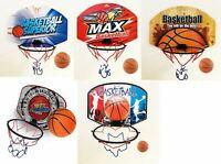 Kids Mini Indoor Basketball Hoop Set Over the Door Basket Ball Backboard Game