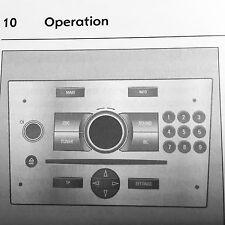Vauxhall ASTRA VECTRA ZAFIRA TELEFONO MANI LIBERE MANUALE ISTRUZIONI