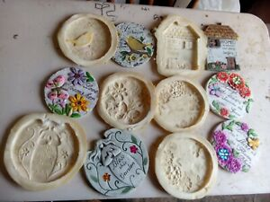 6 Latex Plaques, inspiration, Garden Moulds, NEW,