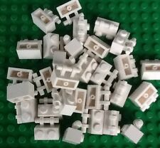 Lego Lot Of 30 White 1x2 Modified Brick With Handle New