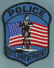 RUTLAND VERMONT POLICE SHOULDER PATCH
