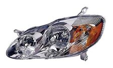 03 04 Toyota Corolla Driver Headlight Headlamp Clear Lens Front NEW