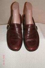 Sofft Burgundy  Leather Mules Slides Clogs  Shoes Shoe Size 9.5  M