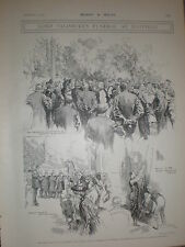 Lord Salisbury Funeral at Hatfield Alec Ball 1903 old prints
