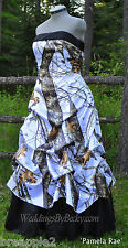 NEW Camo Wedding Gown-pick up skirt-CUSTOM MADE- In the USA