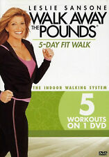 Leslie Sansone 5-DAY FIT WALK (DVD) away the pounds & AND KICK power mile NEW