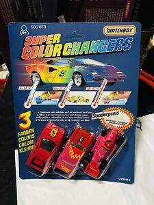 MATCHBOX SUPER COLOR CHANGERS KIT N°1 VINTAGE NEW!!!nr4