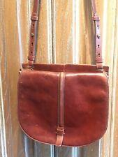 FOSSIL Vintage Re-Issue Flap Distressed CROSSBODY SADDLE BAG LEATHER Retro Boho