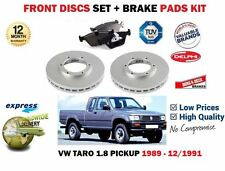 FOR VOLKSWAGEN VW TARO 1.8 PICKUP 1989-1991 FRONT BRAKE DISCS SET + DISC PAD KIT